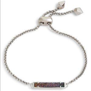 Kendra Scott Stan Silver Bracelet Multicolor Drusy
